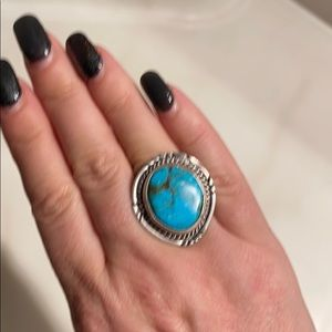 Jewelry - Vintage Large Navajo Turquoise Sterling Ring
